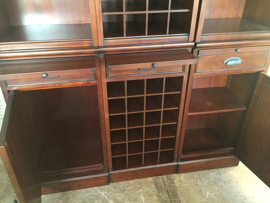 Pottery Barn Modular Cabinet Wall Unit Wine Storage