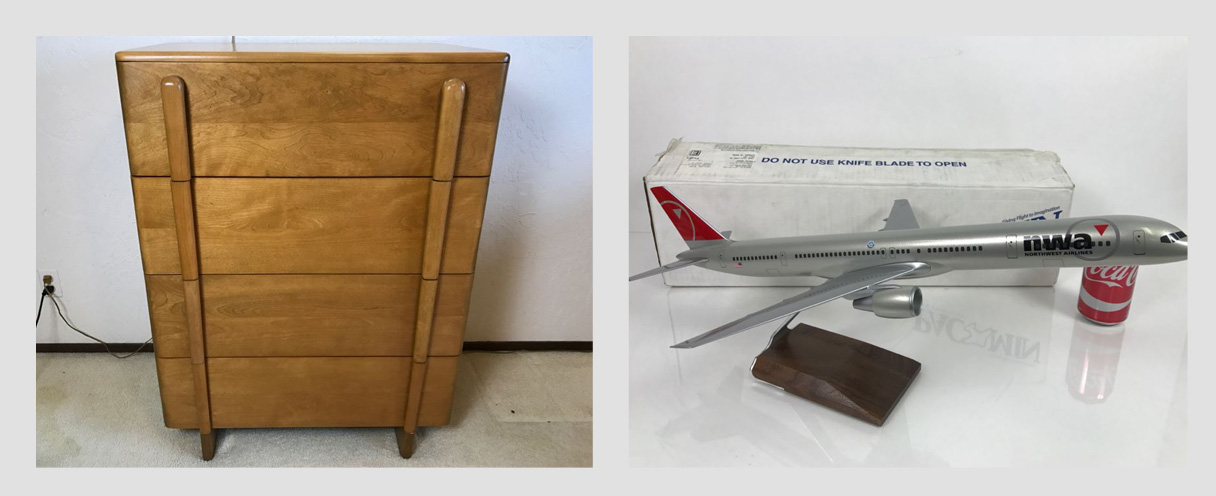 Combined Online Estate Sale - Warner Bros Costumer Designer: Featuring Heywood Wakefield Furniture And PacMin Precision Scale Model Airplanes