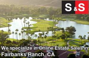 We are Fairbanks Ranch Estate Liquidators. We specialize in Online Estate Sales In Fairbanks Ranch.