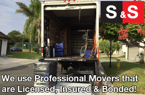 We use professional movers that are licensed, insured and bonded.