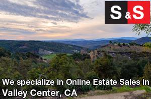 We are Valley Center Estate Liquidators. We specialize in Online Estate Sales In Valley Center.