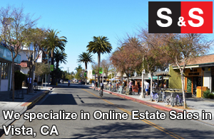 We are Vista Estate Liquidators. We specialize in Online Estate Sales In Vista.