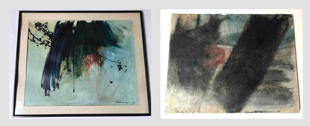Original Artwork By John Way: Original Abstract Modernist Artwork From Chinese Artist Wei Letang aka John Way (1921 - 2012)