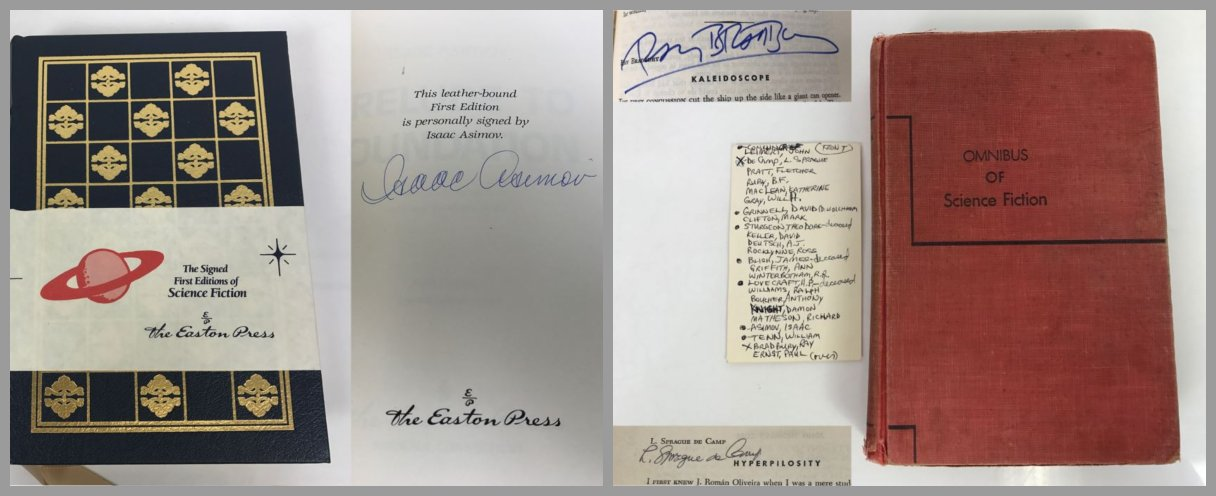 Science Fiction Sci Fi Book Sale: Featuring Signed Books By Ray Bradbury And Isaac Asimov