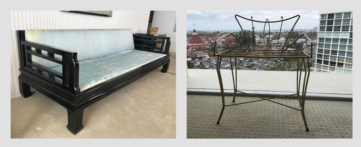 Coronado Shores Online Condo Estate Sale Overlooking Hotel Del Coronado: Featuring Mid-Century Chinoiserie And Chinese Furniture