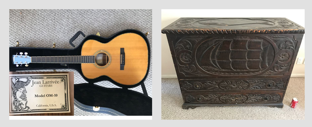 Combined Online Estate Sale: Featuring a Jean Larrivée Guitar Made In CA And Nice Furniture