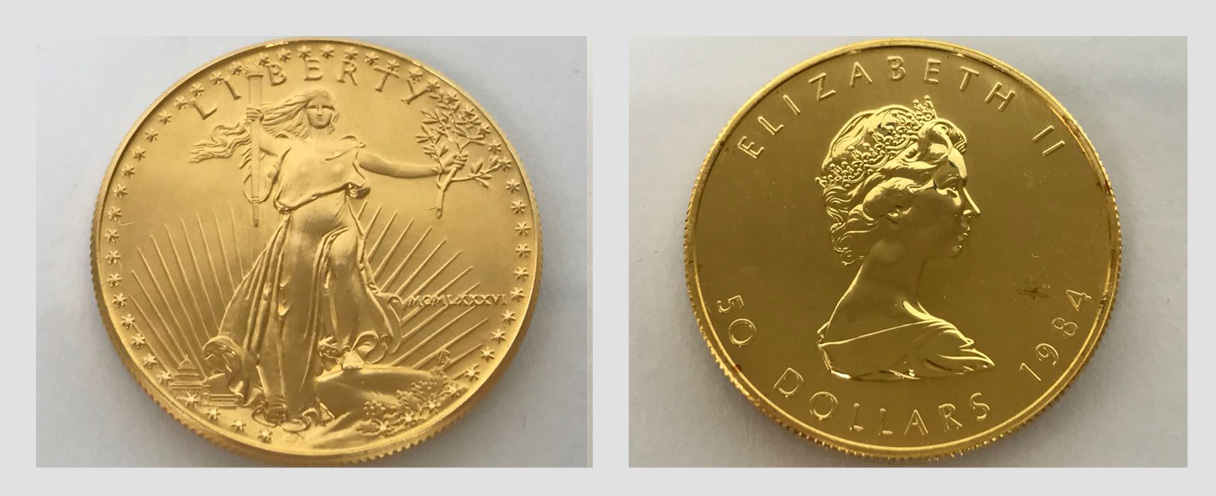 Combined Online Estate Sale: Featuring $50 Gold American Eagle And Canadian Maple Leaf 1oz Coins