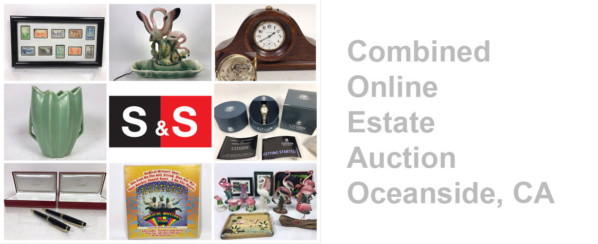 Combined Online Estate Auction: Featuring A Hamilton Pocket Watch, Clocks, Art Deco, Bauer Pottery, Collectibles And More