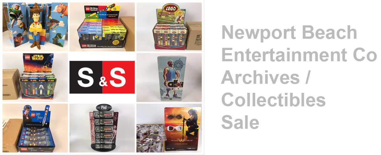 Newport Beach Entertainment Company Sale Day 1: Featuring Company Archives Including LEGO Pens And Collectible Toys