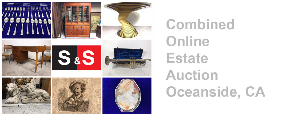 Combined Online Estate Auction: Featuring Original Rembrandt Etchings, Antique Cameo Estate Jewelry, Teak Furniture And More