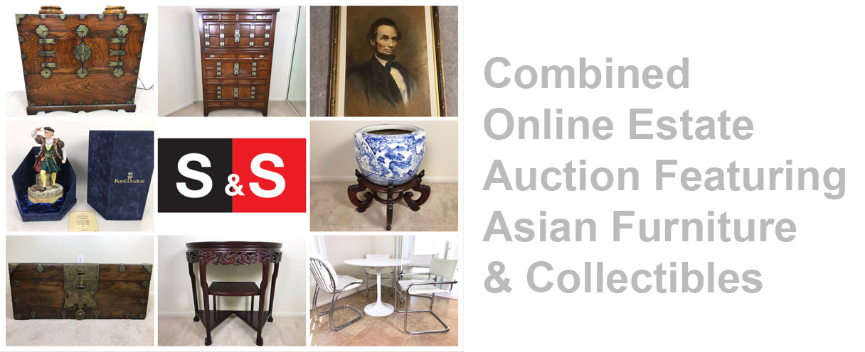 Combined Online Estate Auction: Featuring Asian Furniture, Rugs, Collectibles And More