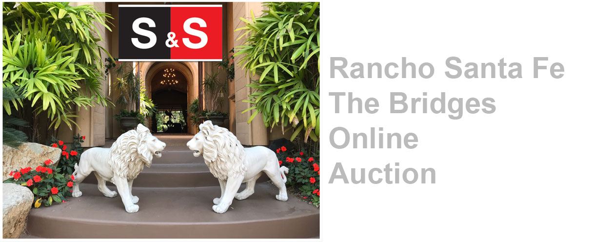 Rancho Santa Fe The Bridges Estate Online Auction: Featuring High End Designer Furniture And Home Decor